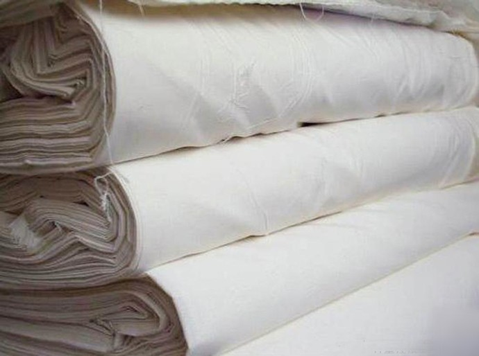 Plain white satin fabric roll for hotel bedding sets