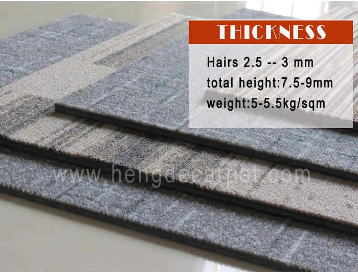 Commercial nylon printed removable square China carpet tiles for conference room