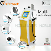 Promotion!!!Luxury E-light+RF+ND:yag hair removal machine, colon hydrotherapy equipment