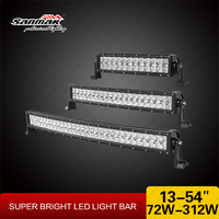 50 inch 288W 4x4 Cree Led Car Light, Curved Led Light bar Off road,auto led light arch bent