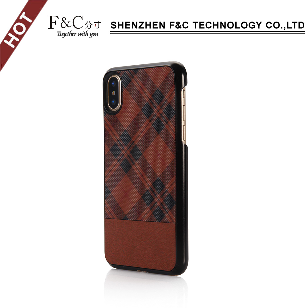 PC and TPU leather case Back cover case for iphone8/X
