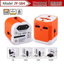 JY-164 Fashion hot-selling gadget cell phone charger, mobile phone accessories universal travel power adapter with usb charger