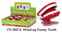 TY-3567A Plastic Wind up Funny Teeth Toys