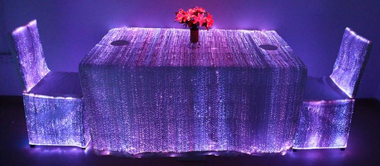 Fiber Optic Light Decoration Luminous Banquet Table Cloth