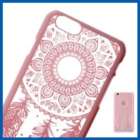 C&T wholesale smart flower style hard back pc phone case for iphone 6