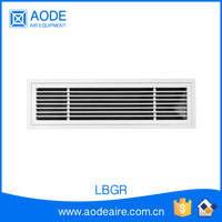 Aluminium air linear bar supply grille with removable core for industrial air conditioning, LBGR ventilation return air grille