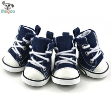 Durable Jean Dog Walking Shoes Plain Color Pet Gao Bang Sneakers