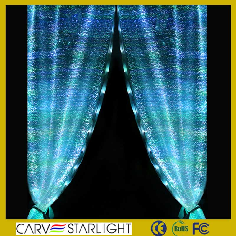 2015 fiber optics fabric led curtains for stage backdrops