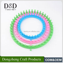 Good quality customized size full set durable round plastic knitting looms