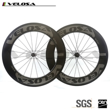 Velosa 700C carbon road wheels 88mm depth clincher carbon bike wheels with 240s hub