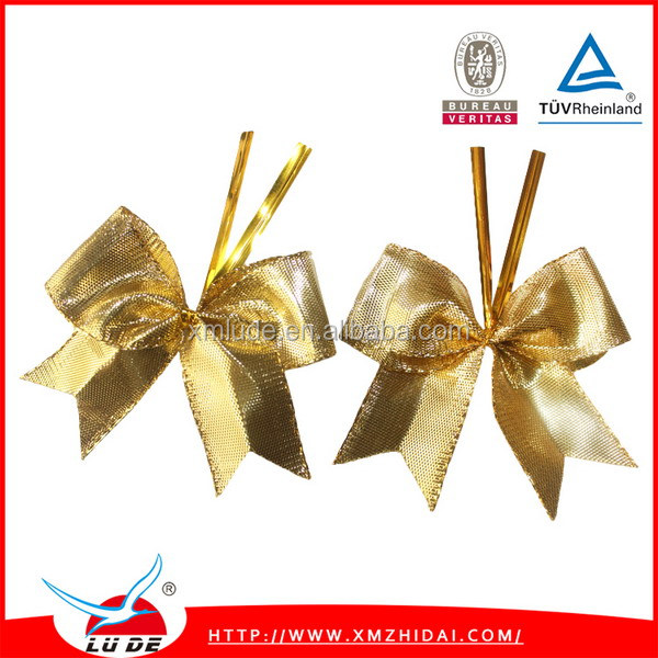 wholesale Gold Metallic Ribbon Bow for gift box