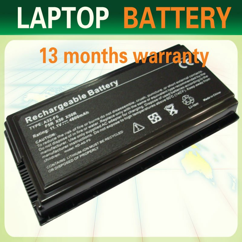 A32-F5,70-NLF1B2000Z Laptop Battery For Asus F5,F5N,F5R,X50,X50R Replacement Laptop Battery