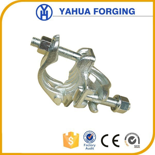 German Type galvanized steel pipe right angle clamp connection