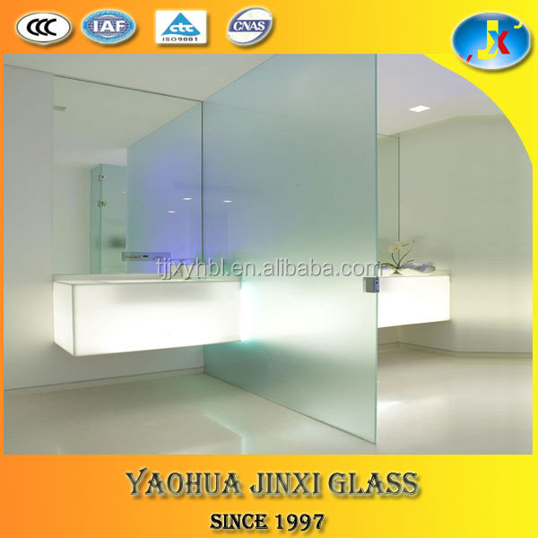 factory supply frosted glass partition for bathroom /shower room/ office