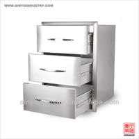 Stainless Steel Storage Cabinet Drawers