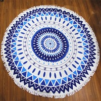 Fashion Eco-friendly wholesale Customized Reactive Printed Round Cotton Beach Towel