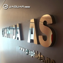 Top sale Mirror Polished Stainless Steel Metal Letters 3D Signage
