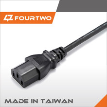 European VDE 6ft Standard IEC C13 C14 Detachable AC Power Cable