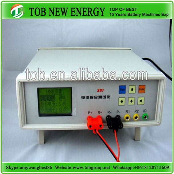 Manual lithium polymer battery voltage meter equipment used for battery production lab research