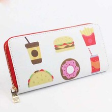 Best quality PU leather latest design fancy brand name ladies purse