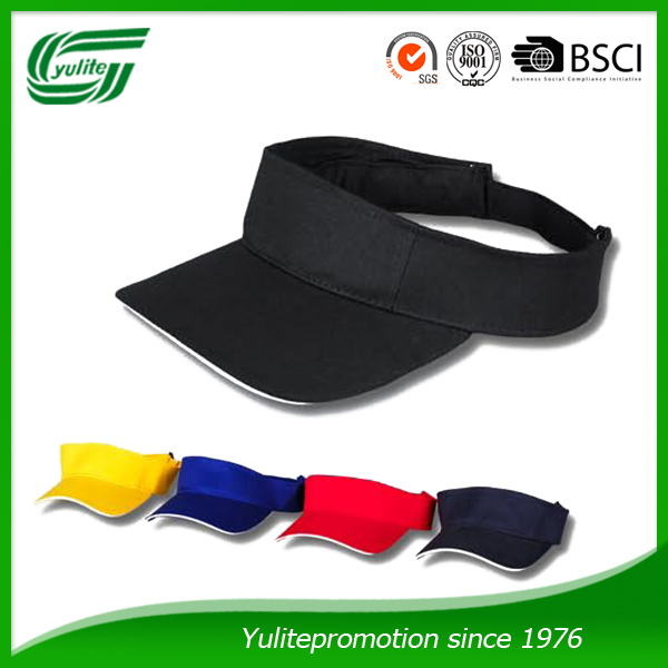 hot sale 100% cotton sun visor for unisex