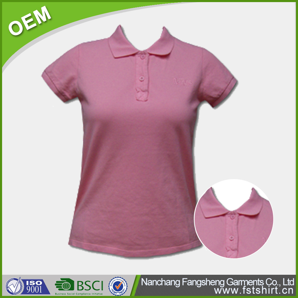 Wholesale woman custom polo shirt design buy custom polo for Custom printed polo shirts cheap
