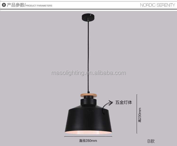 Black cage water bucket Pendant lamp Nordic Home simple design Dinning room Light fixture Wooden Iron stylish ceiling lamp