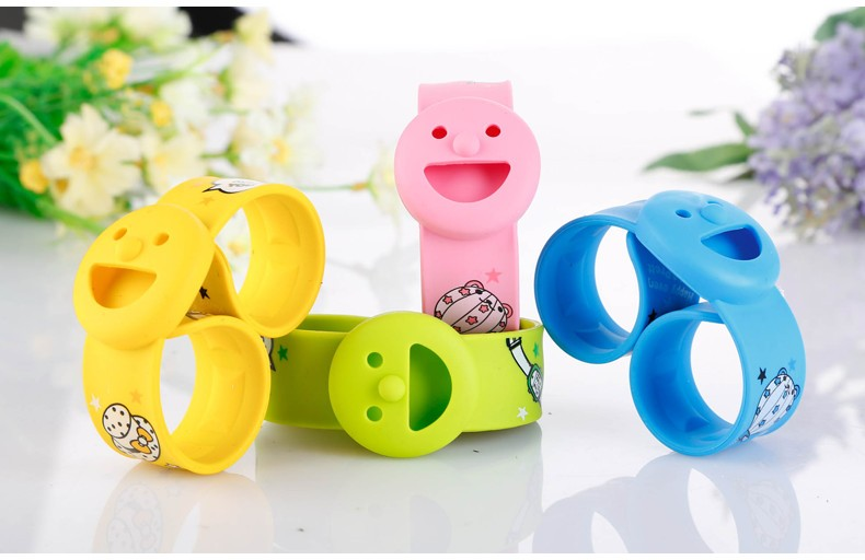 Cartoon anti mosquitos bracelet for baby kids outdoor activity
