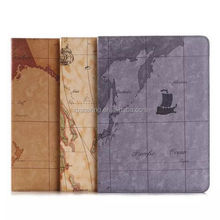 Map skin leather case pouch bag for ipad air 2 ipad 6