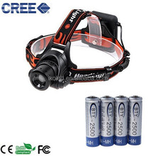 LED Headlight R3 600Lm 3 Modes Adjustable Focus Bicycle Light Headlamp motorcycle Head lamps With 4 X AA Battery