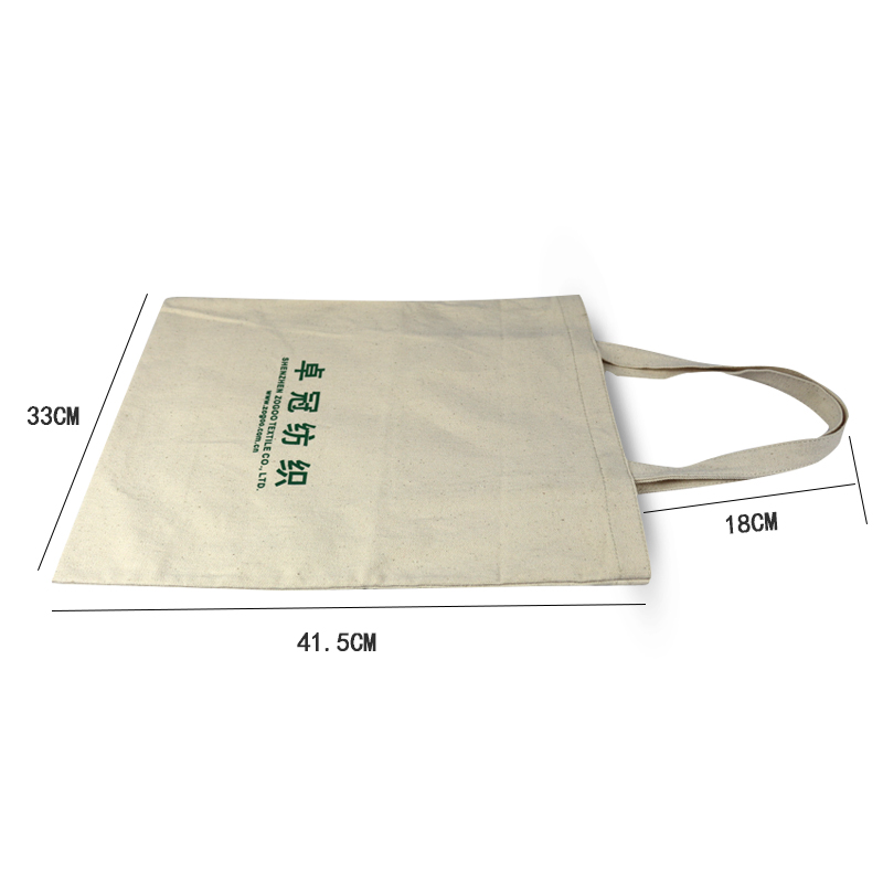 standard size cotton carry bag plain custom pouch white natural cotton canvas tote bag