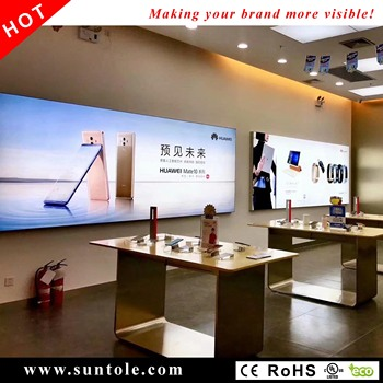 Frameless fabric light box WD10-1T 80mm thickness high bright stretched frame textile light box