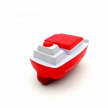 Hot Selling PU Stressbal Schip Vormige Transport Anti Stress Squeeze Boot Stress Bal Voor Kinderen