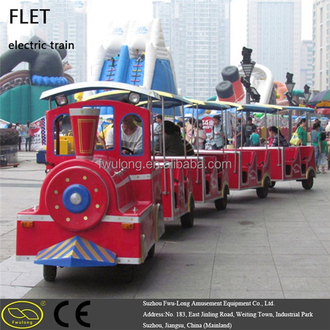 popular design & brightful color Mini train battery trackless train electric trackless train for shopping mall