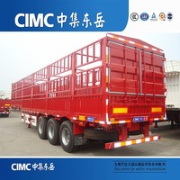 CIMC Three Axle Horse Heavy Duty Stake Animal Transport Tractor Trailer