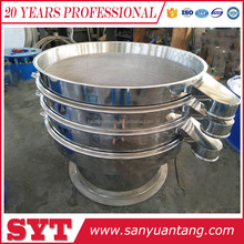 300 micron food grade stainless steel rotary vibrate screen sieve