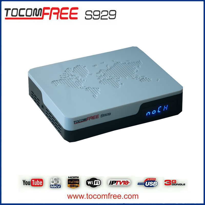 Digital satellite dish tv receiver tocomfree s929 with iks sks free for Latin America