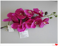 red orchid plastic flower artificial flower