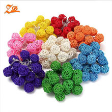 Colorful Rattan Balls LED String Lights Holiday Lights Lamp For Christmas Party