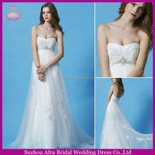 SD1674 sweetheart empire waist lace bodice wedding dress for the pregnant bride