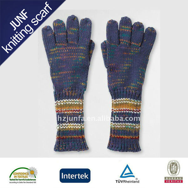 Newest Design Pretty Girls Lovely Image Cute Soft Knitted zhejiang tonglu Cotton Gloves For Industrial Use