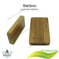 High capacity led indicator wooden power bank 4000mah easy carrying portable mobile phone charger battery