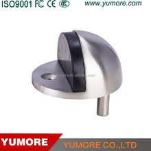 Cheap price 304 stainless steel decorative floor mount glass shower door stop