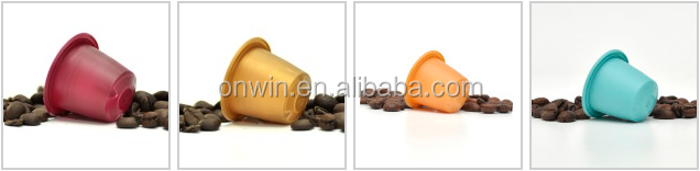 Nespresso Decomposible / Biodegradable Compatible Coffee Capsule/Automatic Coffee Capsule filling and sealing machine
