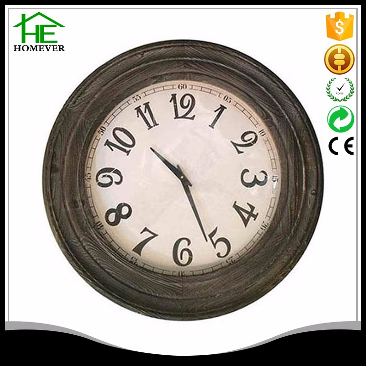 Chinese rohs wall natural wood antique clock french