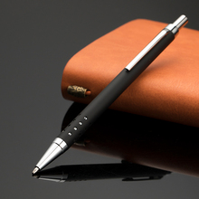 slim heavy Custom Logo Engraved Thin Metal Pen with holes on barrel for <strong>promotion</strong>