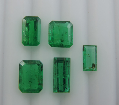 (IGC)Natural Loose Emerald Faceted Gemstones Of Swat and Afghanistan