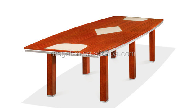 Modern mobilier de bureau wood veneer table de conference(FOH-H4287)