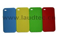 Mesh Silicone Skin Jelly Case for Apple iPhone 4G