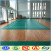 Softly Badminton court used wood grain PVC Sports flooring